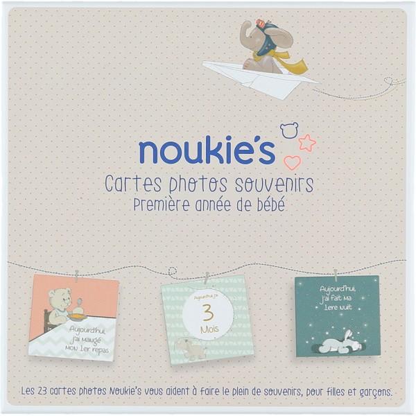 Cartes photos souvenirs première année de bébé Noukies