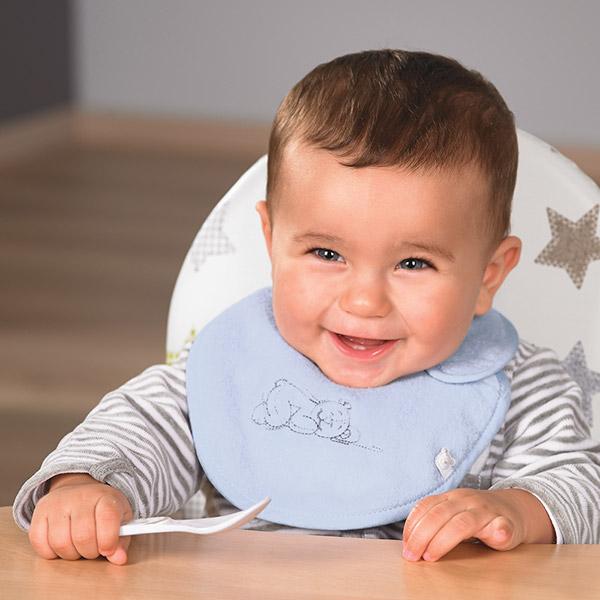Bavoir mini poudre d'étoiles bleu Noukies