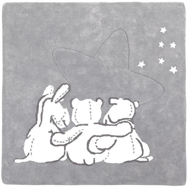 Tapis en coton avec personnage poudre d'étoiles Noukies