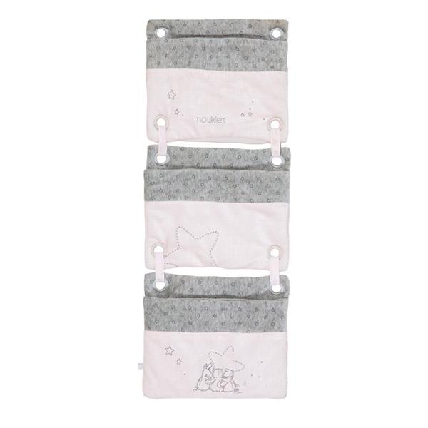 Poches de lit poudre d'étoiles rose Noukies