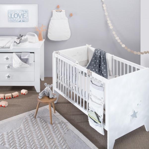 Tour de lit bébé avec personnages poudre d'etoiles Noukies