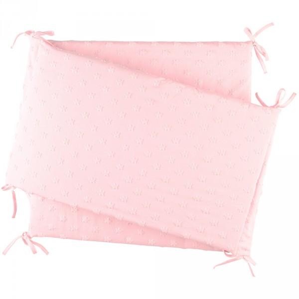 Tour de lit jersey rose cocon Noukies