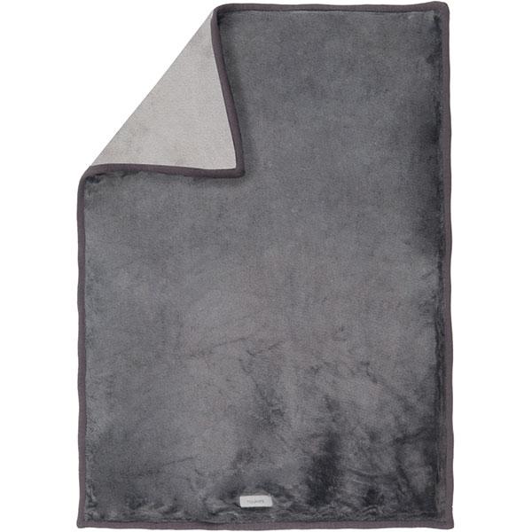 Couverture lit bébé grosloudoux 100x140 cm gris foncé/gris clair Noukies