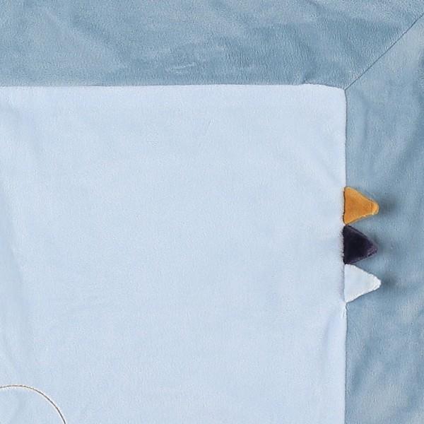 Couverture veloudoux 75 x 100 cm achille et zébrito Noukies