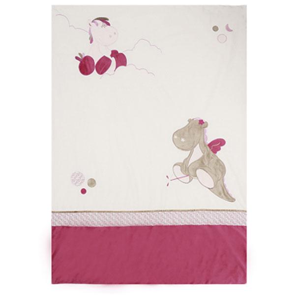 couverture lit b b 100x140 cm victoria et lucie de noukies chez naturab b. Black Bedroom Furniture Sets. Home Design Ideas