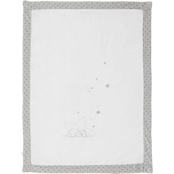 Couverture lit bébé 75x100 cm poudre d'etoiles Noukies