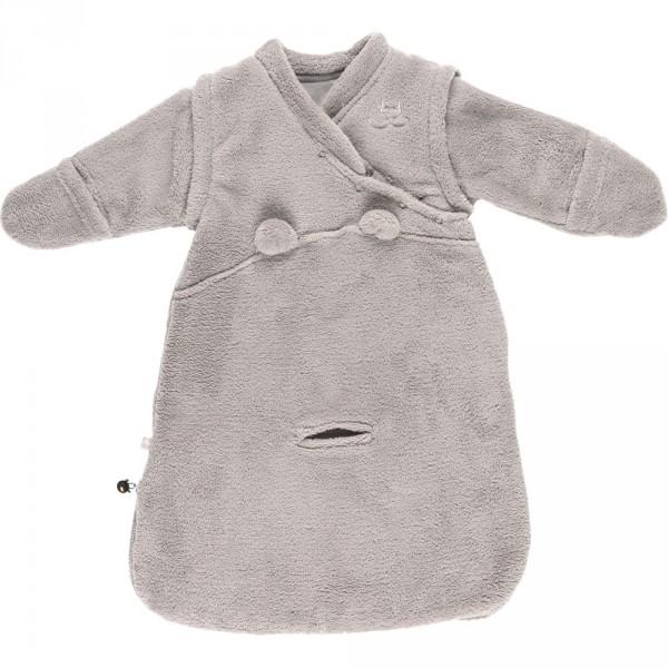 Gigoteuse veloudoux 50 cm gris clair Noukies