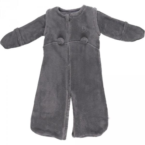 Gigoteuse bébé veloudoux 70cm gris foncé Noukies