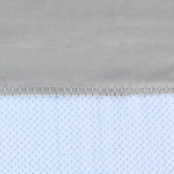 Couverture groloudoux 100 x 140 cm bleu cocon / gris perle Noukies