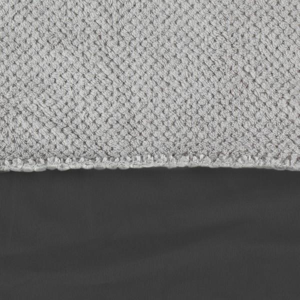 Couverture groloudoux 100 x 140 cm gris perle / gris foncé Noukies
