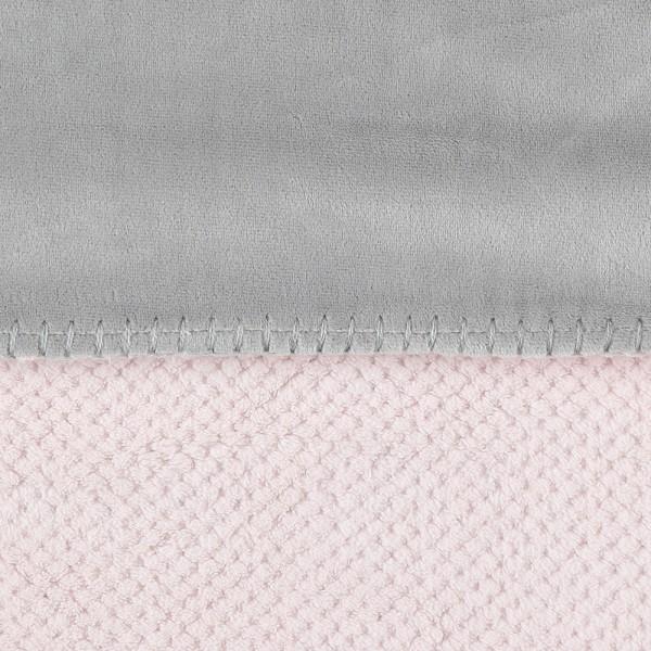 Couverture groloudoux 100 x 140 cm rose cocon / gris perle Noukies