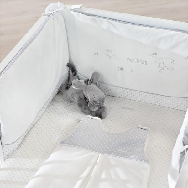 Lot de 2 draps housses bébé 70x140 cm poudre d'etoiles Noukies