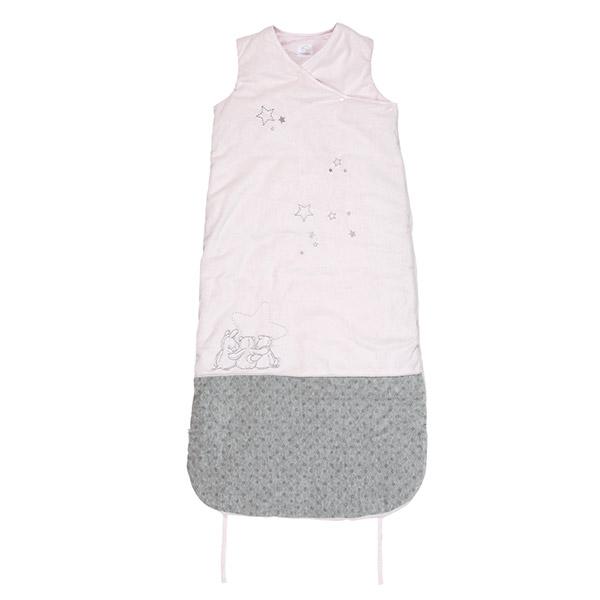 Gigoteuse 90-110 cm poudre d'étoiles rose Noukies