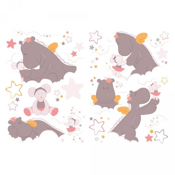 Stickers chambre bébé mia et victoria Noukies