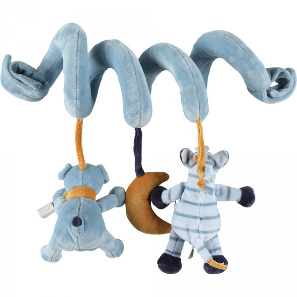 Jouet de lit bébé spirale d'activités achille et zébrito Noukies