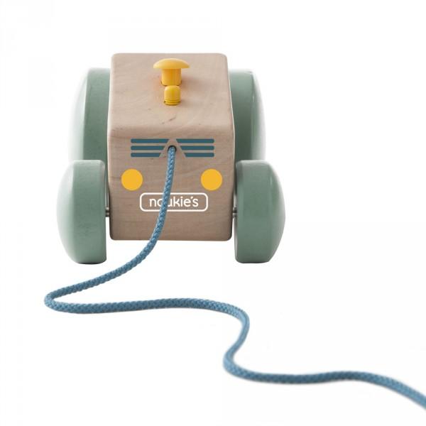 Jouet d'éveil bébé en bois tracteur à tirer paco potager Noukies