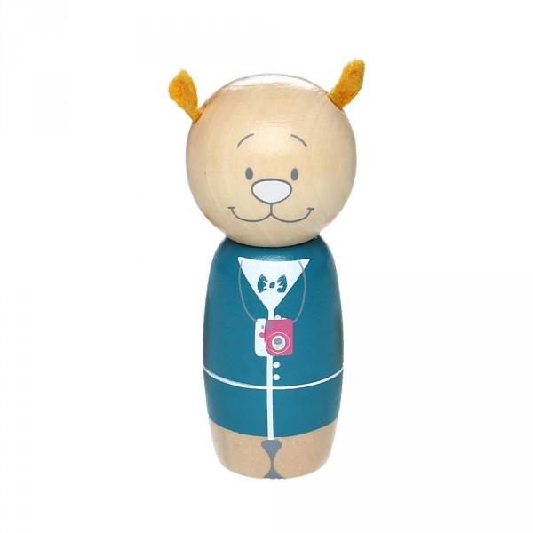 Jouet d'éveil bébé set 3 personnages anniversaire en bois Noukies