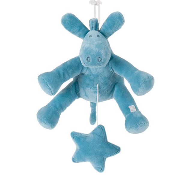 Peluche bébé musical paco turquoise Noukies