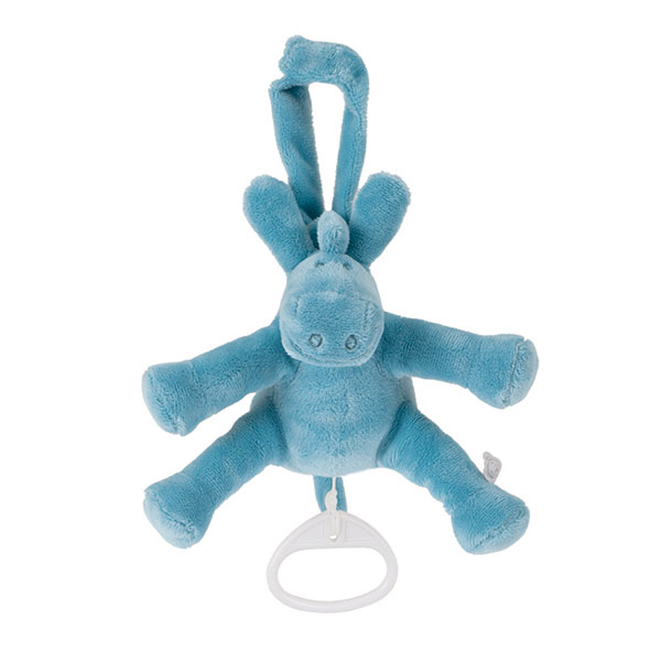 Peluche bébé mini musical paco turquoise Noukies