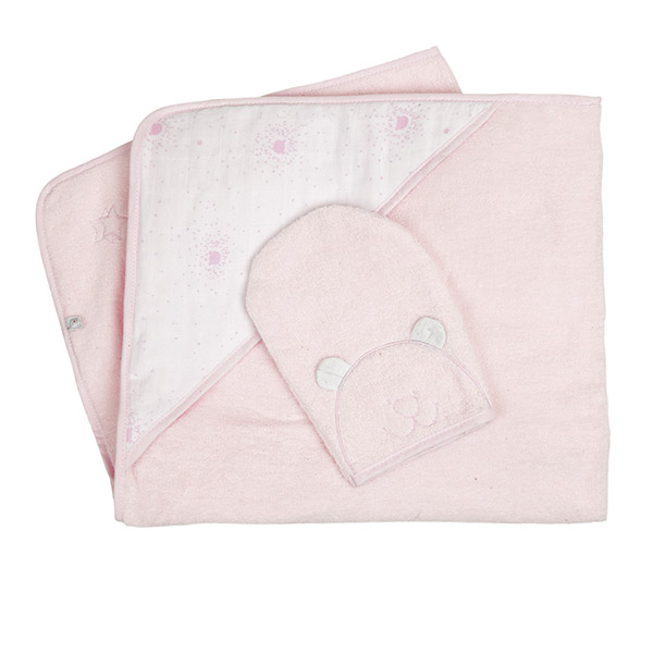 Sortie de bain rose cocon concept cadeau Noukies
