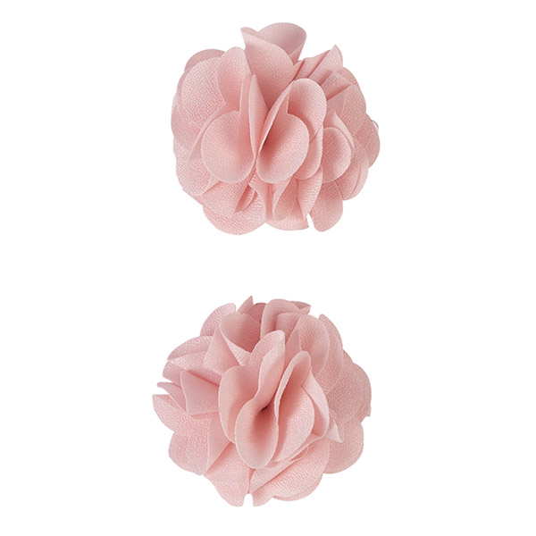 Lot de 2 pinces à cheveux pompons rose pâle Noukies