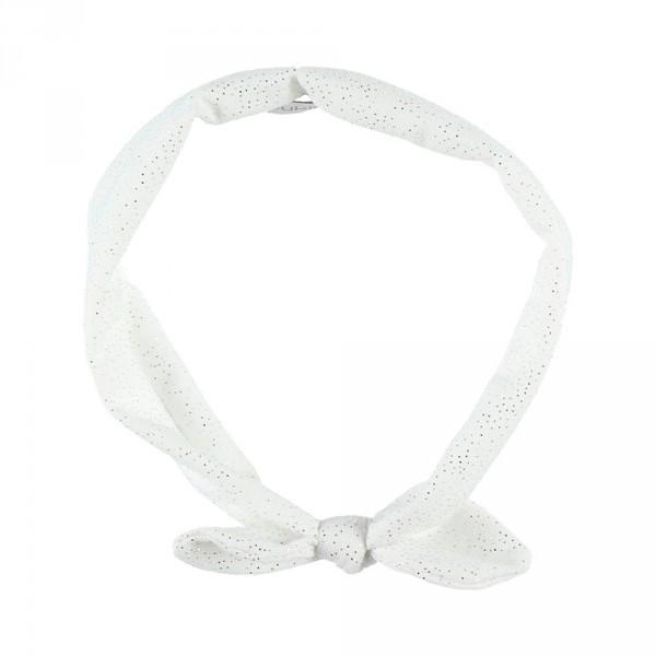 Accessoire pour cheveux bandeau pois blanc Noukies