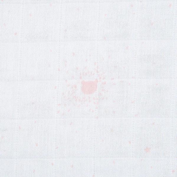 Lot de 2 langes carrés 100 x 100 cm rose cocon Noukies