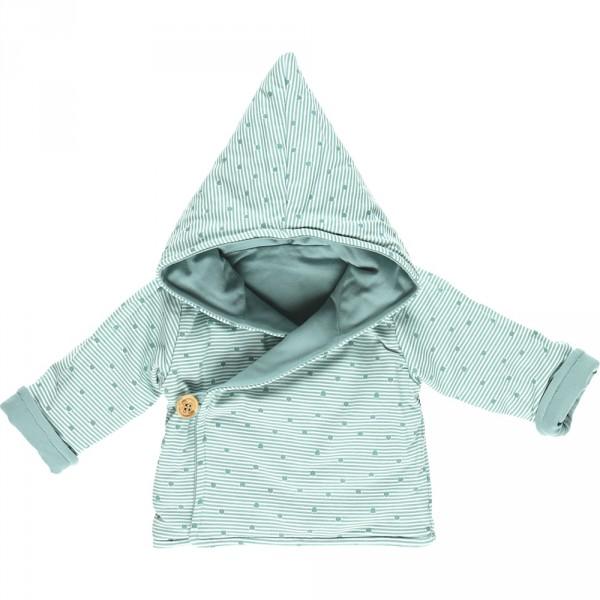 Ensemble bébé 3 pièces cocon veste mantelet aqua Noukies