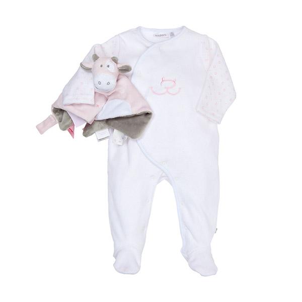 Coffret naissance pyjama lola et son doudou tidou Noukies