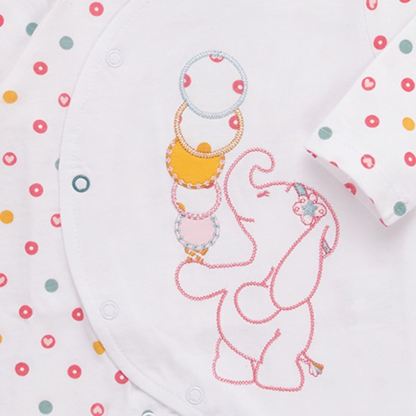 Pyjama dors bien jersey blanc graph girl Noukies