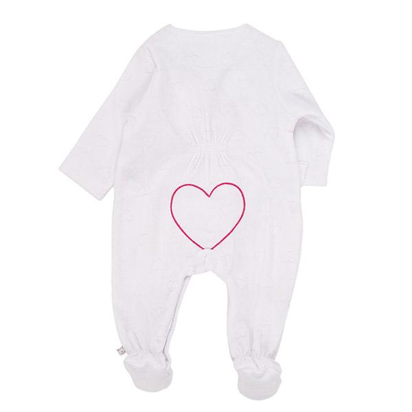 Pyjama dors bien velours blanc peps girl Noukies