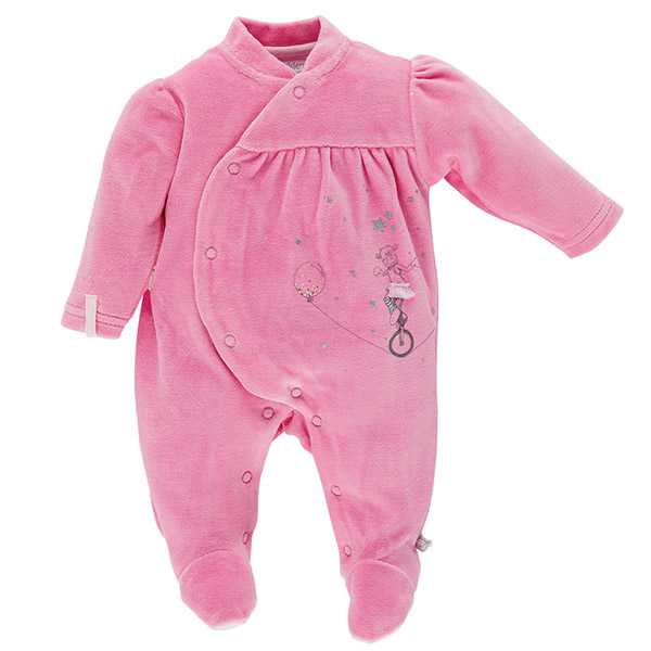 Pyjama dors bien velours malabar graphique girl Noukies