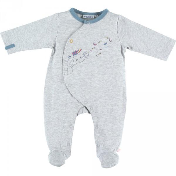 Pyjama dors bien jersey graphic boy gris Noukies