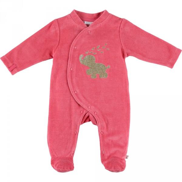 Pyjama dors bien velours graphic girl fuchsia Noukies