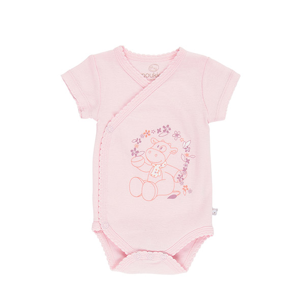 Body manches courtes rose smart girl Noukies