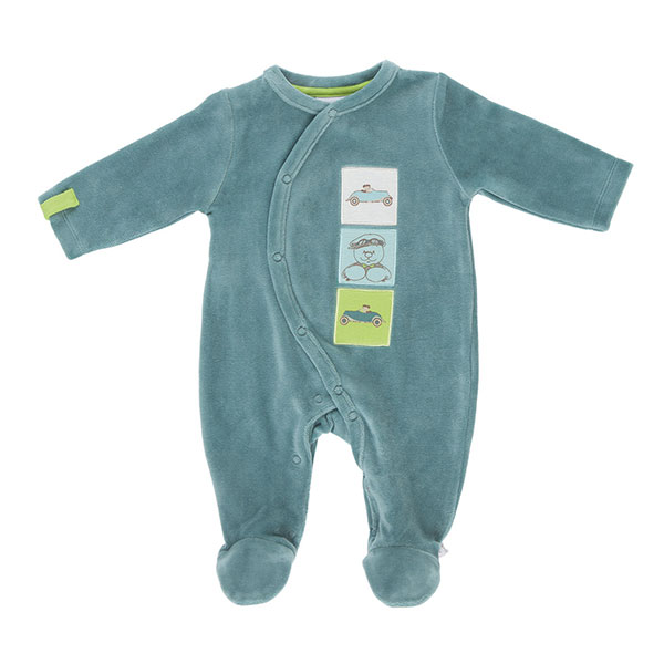 Pyjama bébé velours graph boy mirage Noukies