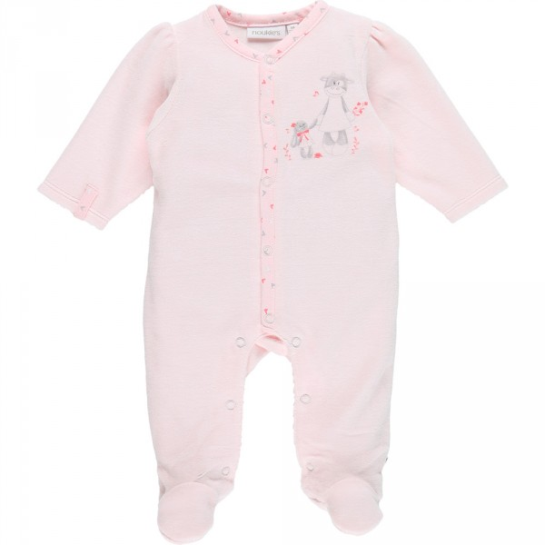 Pyjama dors bien velours smart girl rose Noukies