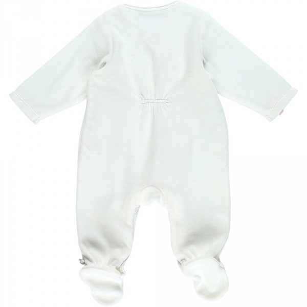 Pyjama dors bien velours smart girl blanc Noukies