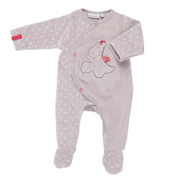 Pyjama dors bien velours étoiles bord de mer fille Noukies
