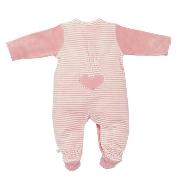 Pyjama dors bien velours rose graphique girl Noukies