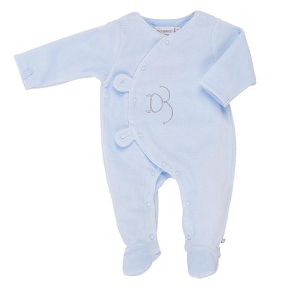 Pyjama dors bien velours bleu mix and match Noukies