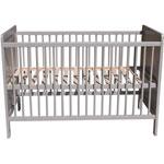 Lit bébé virginia 60 x120 cm gris pas cher