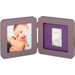 Cadre print frame reversible taupe / violet-lime pas cher