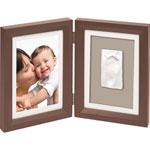 Cadre photo avec empreinte brown et taupe / beige pas cher