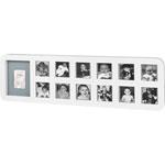 Cadre photo modern 1 st year avec empreinte blanc / gris pas cher