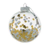 Boule de noel baby art transparent