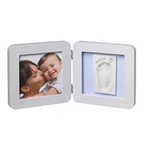 Baby art Cadre photo modern avec empreinte pastel