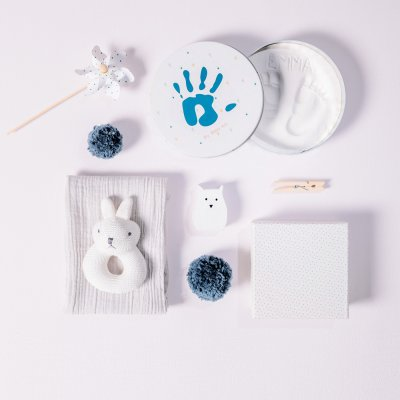 Boîte d'empreinte magic box ronde collection essentials Baby art