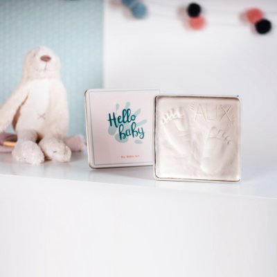 Boîte d'empreinte magic box carrée collection essentials Baby art