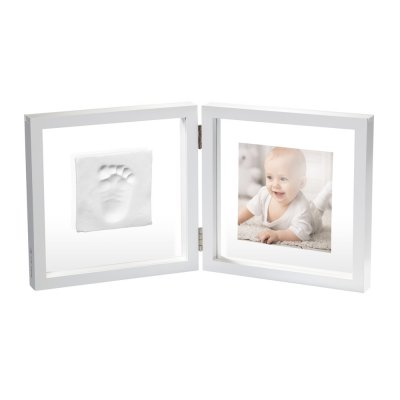 Cadre 2 volets my baby style transparent photo et empreinte Baby art